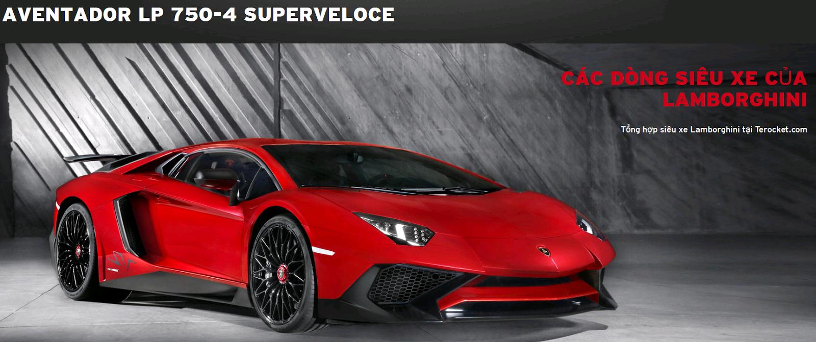 Các dòng siêu xe Lamborghini & mẫu xe Lamborghini