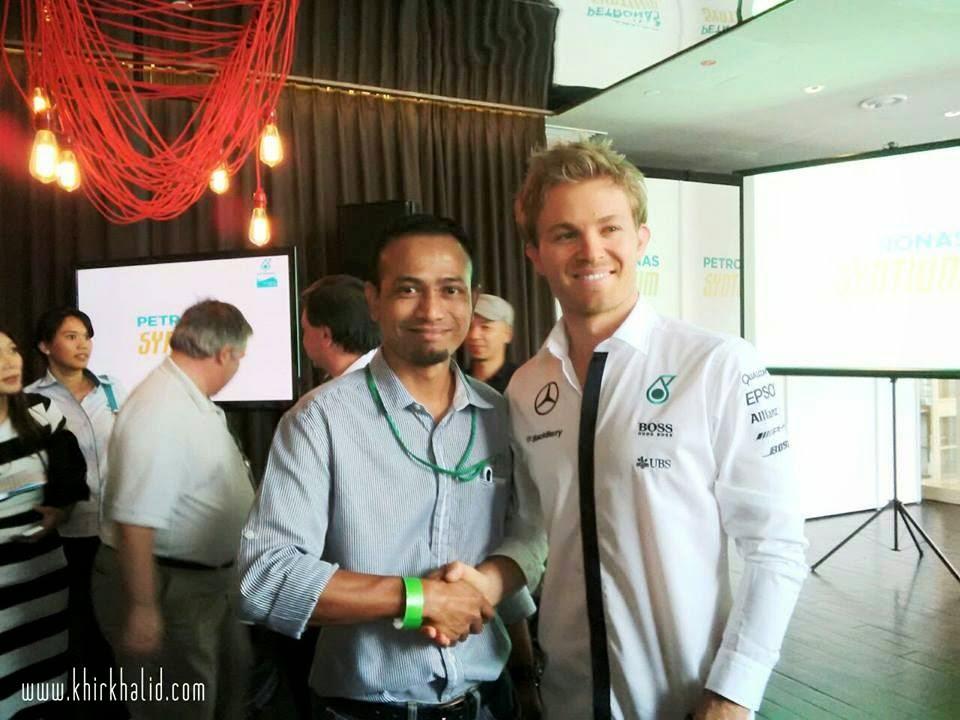 Nico Rosberg, F1 Mercedes AMG Petronas, Khir Khalid