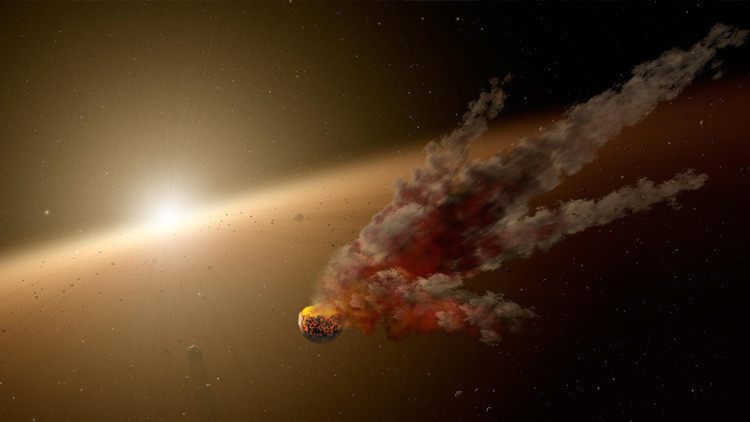 Revientan simulado un asteroide