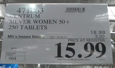 Deal for Centrum Silver at Costco