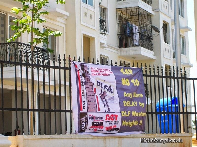 DLF Newtown buyer agitation