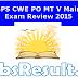 IBPS CWE PO MT V Mains Exam Answer Key 2015 Download
