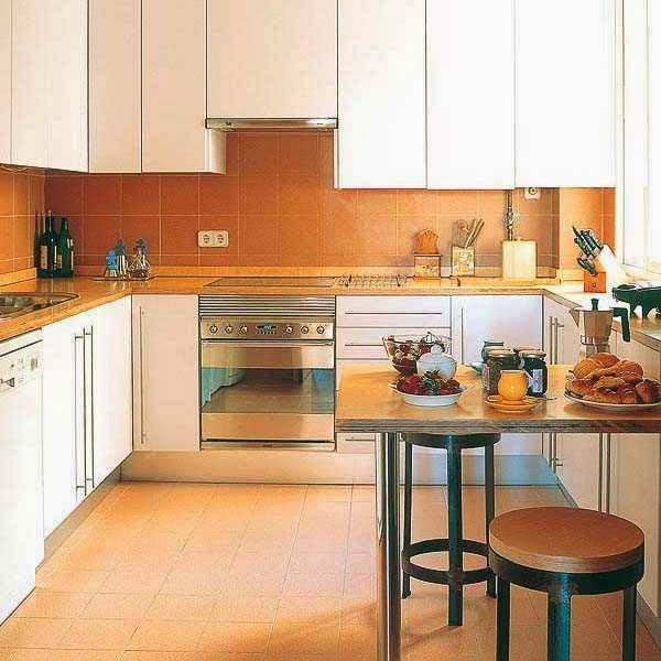 Modern kitchen designs for large and small spaces ayanahouse for Kitchen design for small space