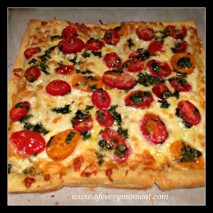 puff pastry, tomato tart