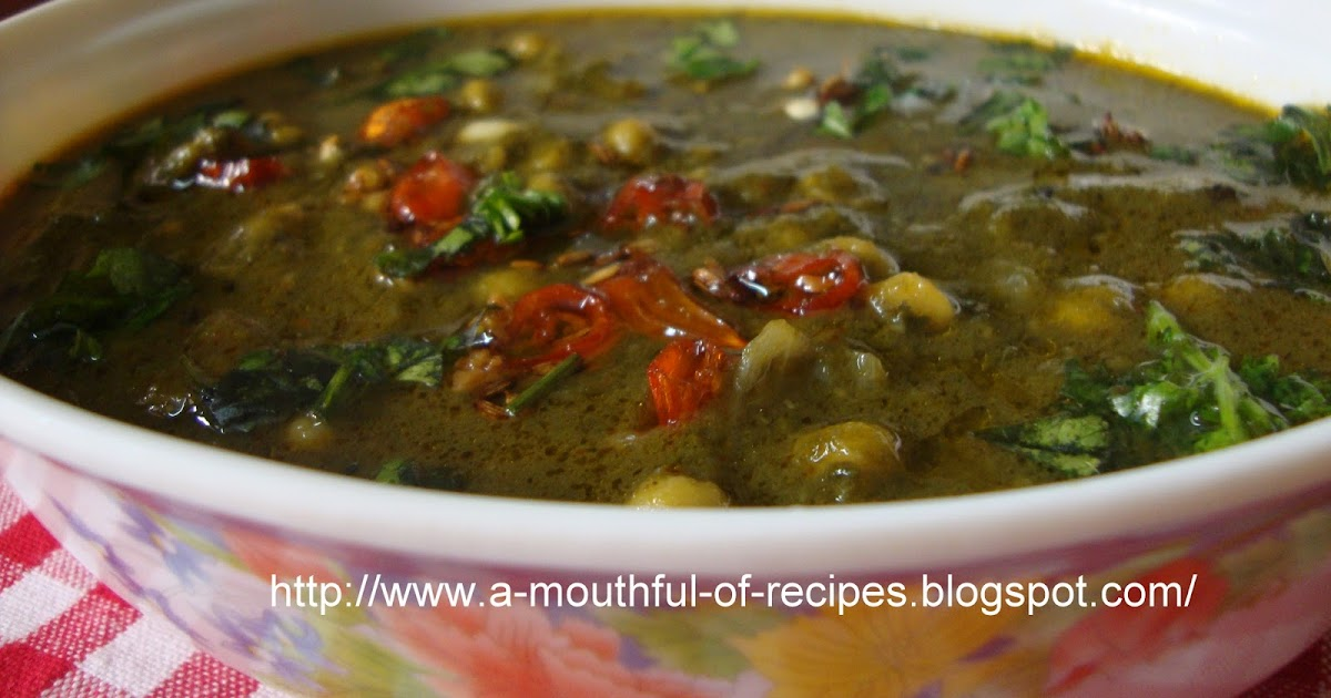 Mouthful Of Recipes: Palak Daal (Saag Daal)