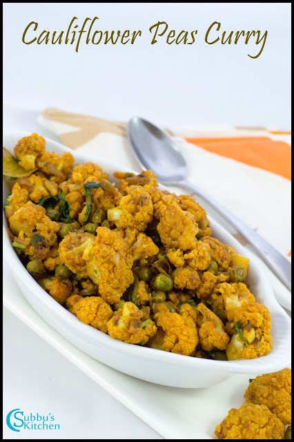 Cauliflower Peas Curry Recipe | Cauliflower Dry Curry Recipe