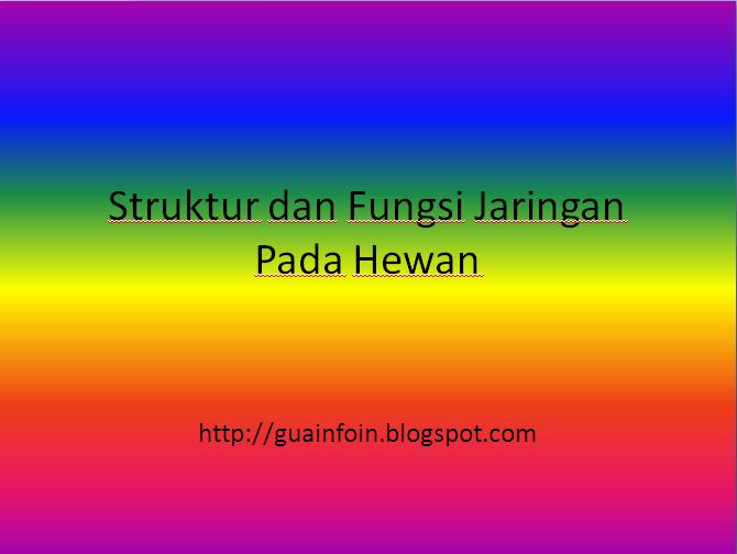 Ikhtisar - Struktur dan Fungsi Jaringan Pada Hewan