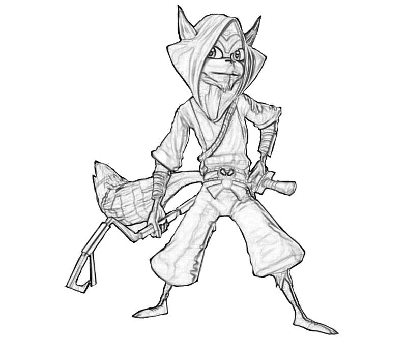 Sly Cooper Thieves In Time Sly Cooper Character Temtodasas Sly Cooper Coloring Pages