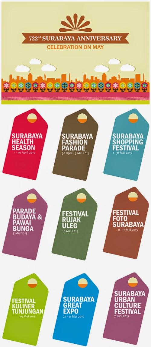 Jadwal Acara HUT ke-722 Kota Surabaya 2015