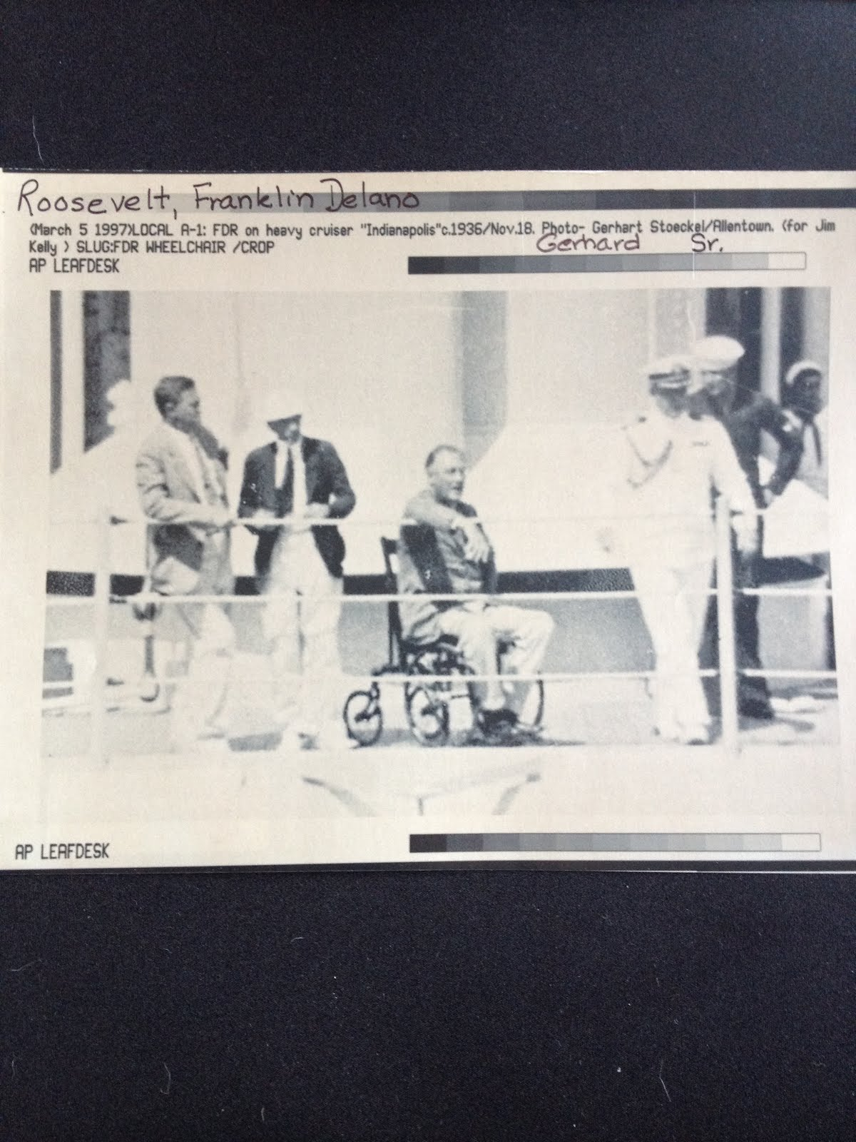 A  new  picture of FDR in a wheelchair. USS Indianapolis 1933 & Fdru0027s Deadly Secret: A