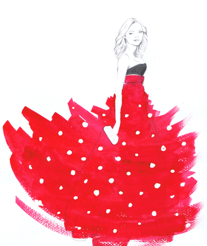 Polka  Dress on Red Polka Dot Dress   Personal Work