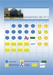 Calendário Educação Infantil Dezembro 2015