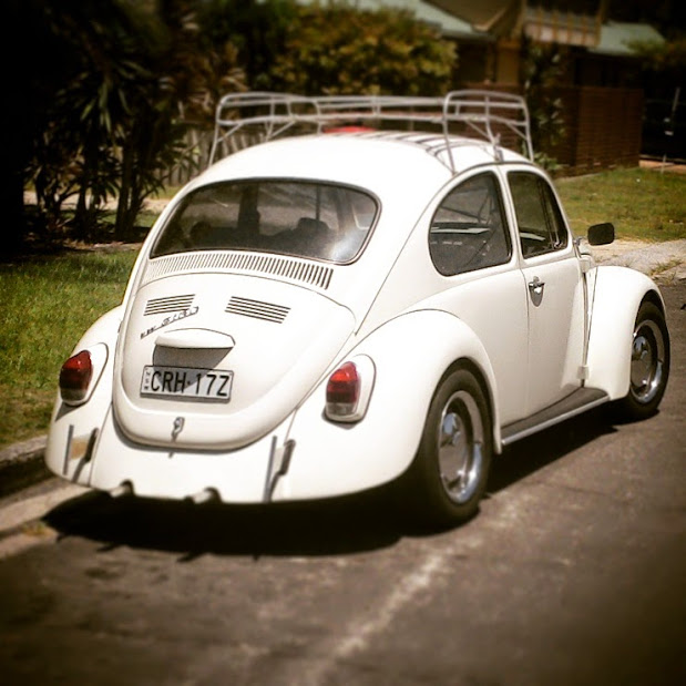 The iconic Volkswagen Beetle spotted in Byron