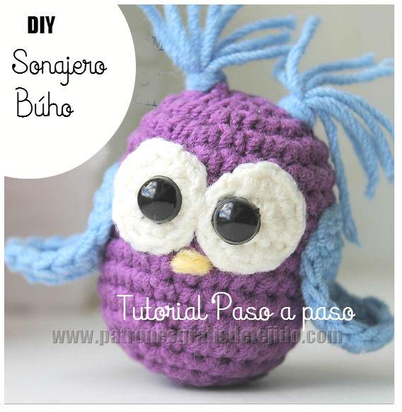 Sonajero Búho Crochet / Tutorial Paso a paso DIY | Crochet y Dos ...
