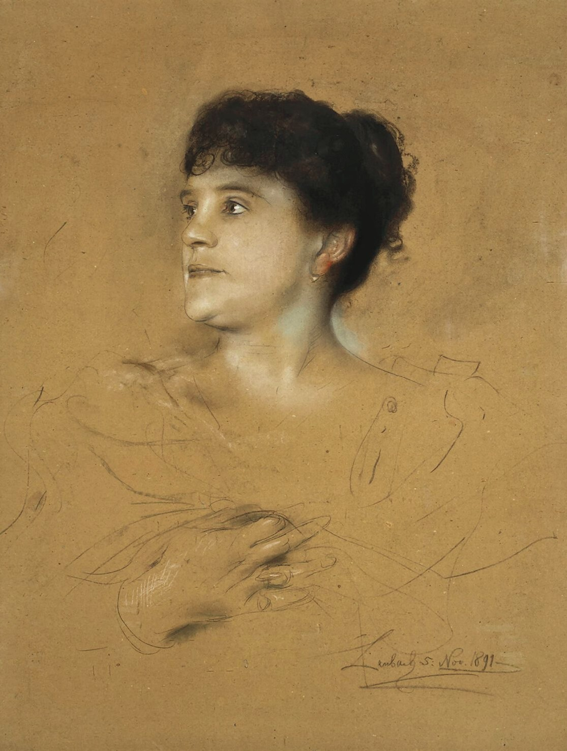 Franz  von  Lenbach  portrait  of  marcella  sembrich