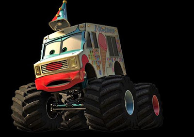Monster Truck Mater Coloring Page