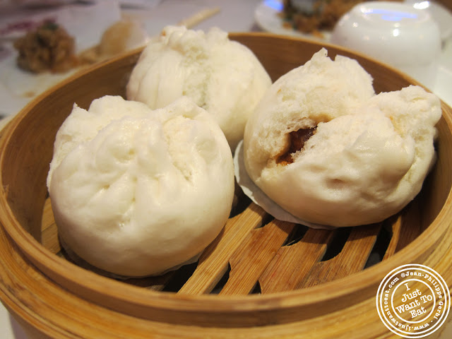 Image of BBQ pork buns at the Golden Unicorn in Chinatown NYC, New York