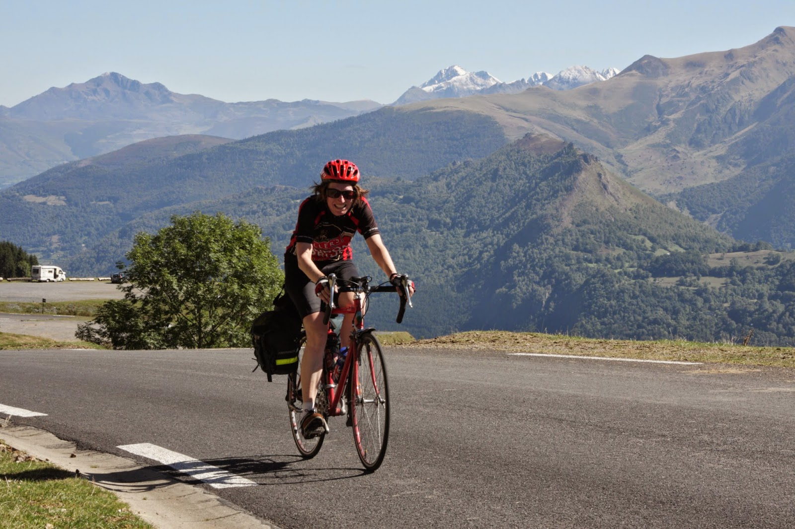 A cyclist in The Pyrenees