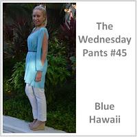 Sydney Fashion Hunter - The Wednesday Pants #45 - Blue Hawaii