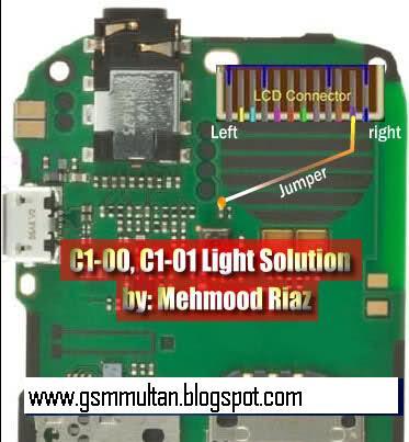 Nokia C1-00 C1_01 Hardware Light Solution Jumpering