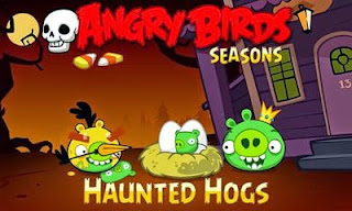 Screenshots of the Angry Birds Seasons Haunted Hogs for Android tablet, phone.