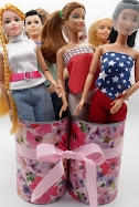 diy barbie blog:recycled can doll storage