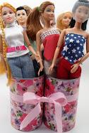 diy barbie blog:recycled can doll storage