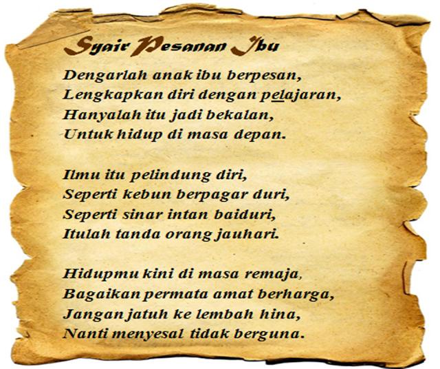 Contoh Syair Bahasa Indonesia | newhairstylesformen2014.com
