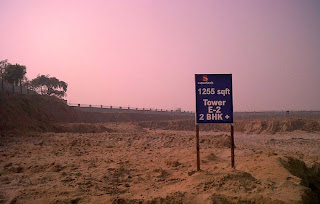 Golf Country, Yamuna Expressway :: Construction Status on July 2014 :-1255 sq ft. Tower E-2 2 BHK +study