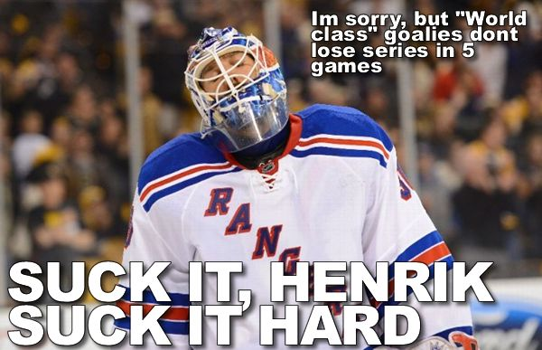 Masshole Sports So About That Lundqvist Guy