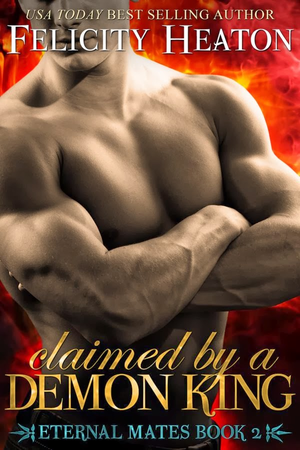 paranormal romance, erotic, cover Claimed by a Demon King