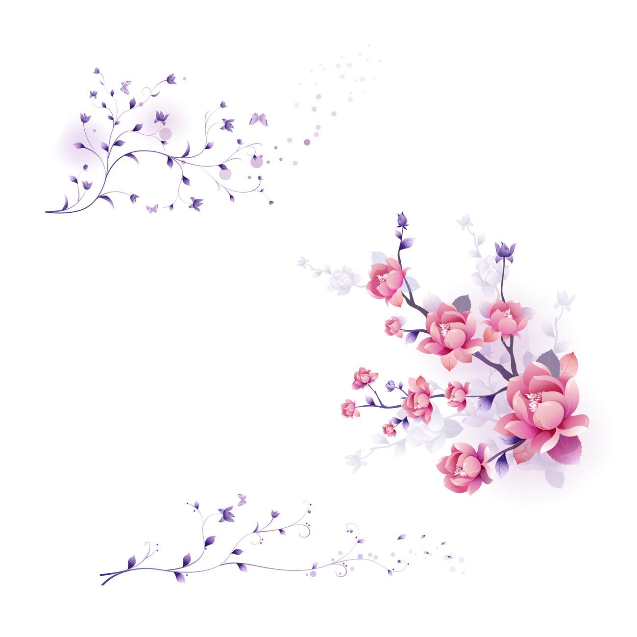 Free Vector Art Graphics Flowers on Free Flower Vector Art