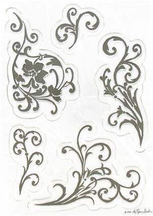 Floral Flourises CS070 Clear Stamps the Paper Studio