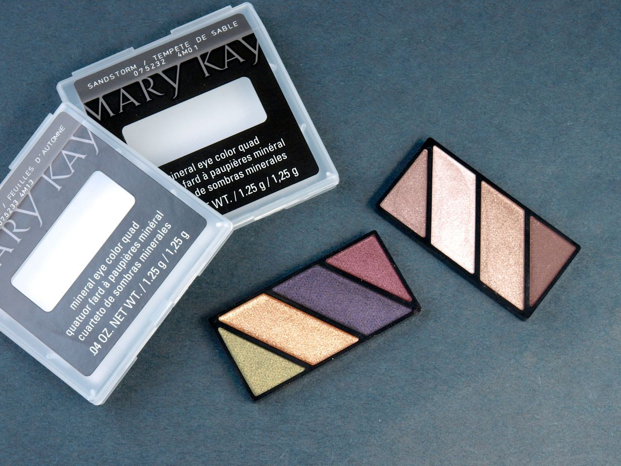 "Mary Kay Limited Edition Mineral Eye Color Quads in ""Autumn Leaves"" & ""Sandstorm"": Review and Swatches"