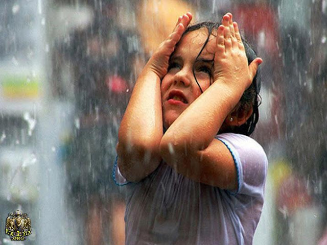 Sad And Alone Girl in rain