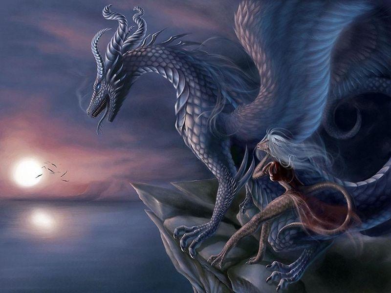 Dragones blancos y plateados