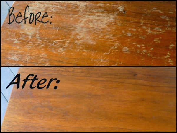 Dùng dấm và dầu ăn để làm sáng bề mặt gỗ