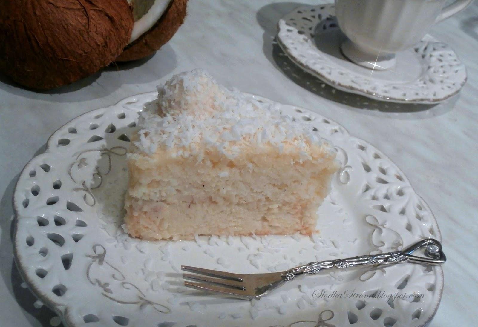 Sernik Kokosowy - Przepis - Słodka Strona