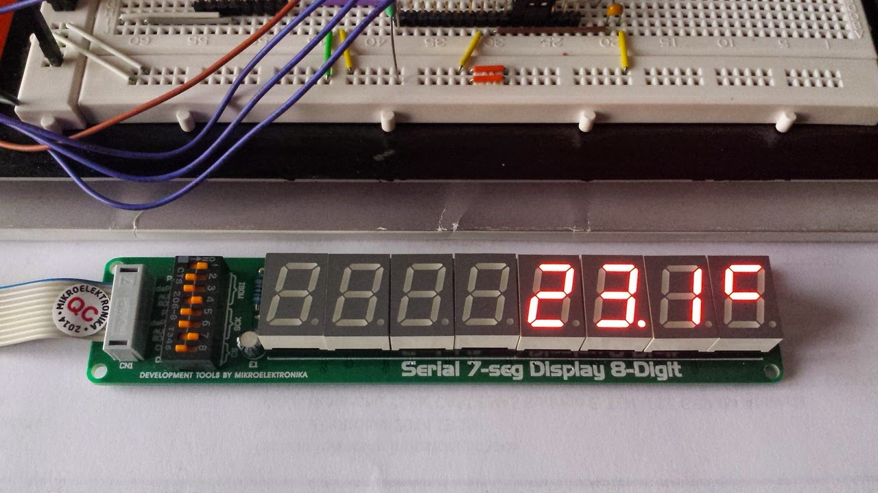 Electronic Experiments Ds1307 Rtc With Set Functions Ds18b20 Digital Clock Using Pic Microcontroller And Circuit Is Designed Separately By Me But Max7219 Acquired From Mikroelektronika Electrical Schematic To Include The Complete