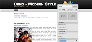 Modern Style Blogger Template is a clean and simple style blogger template