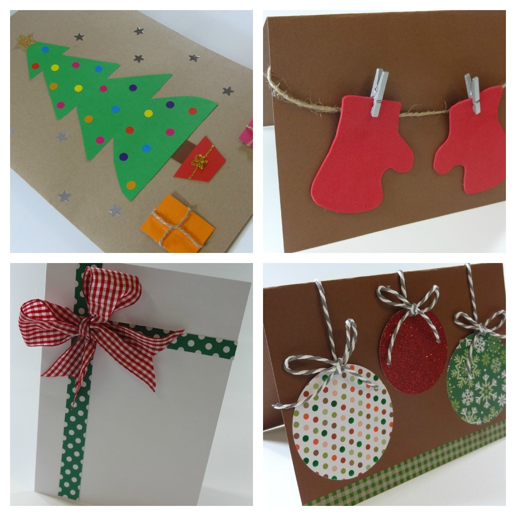 Celebra con ana compartiendo experiencias creativas - Tarjetas de navidad faciles ...