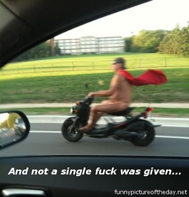 And Not A Single Fuck Was Given Super Man On Scooter