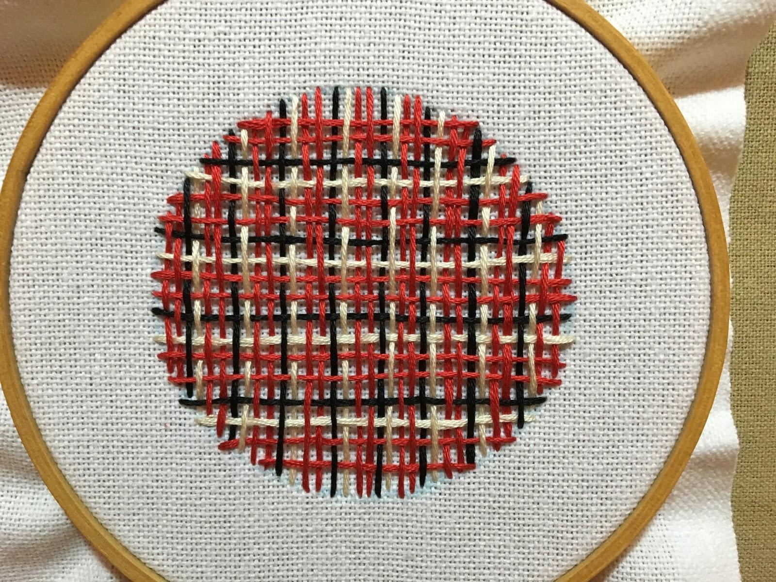 needle weaving plaid
