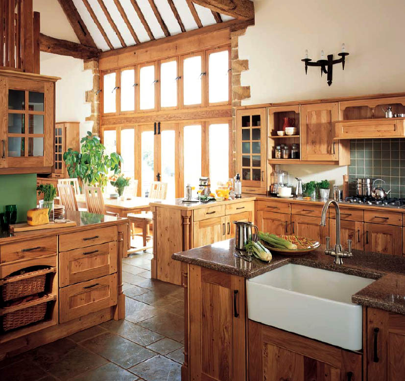 Home interior design decor country style kitchens - Chic country house architecture with adorable interior design ...