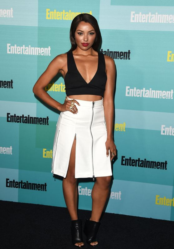 Kat Graham shows cleavage at the Entertainment Weekly Party at Comic-Con 2015