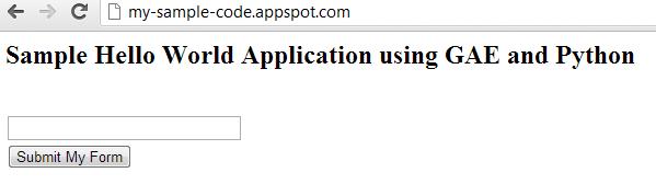 Google App Engine Python Webapp Deployed