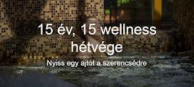 Nyerj egyet a 15 db wellness hétvége közül!