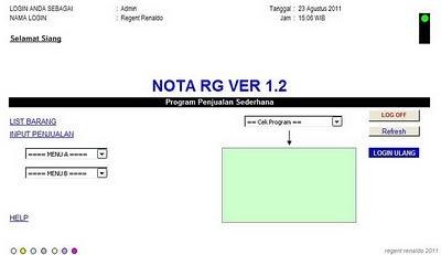 Program Penjualan Sederhana ( Nota RG Ver 1.2 )