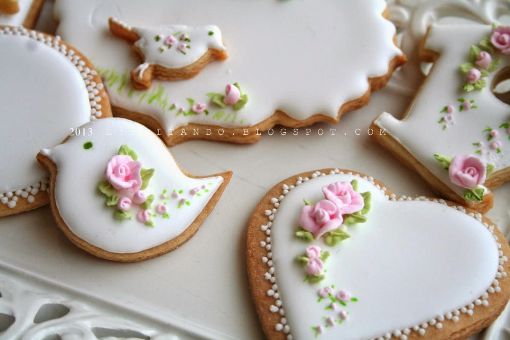 Bridal Shower Cookies via Cookie Connection