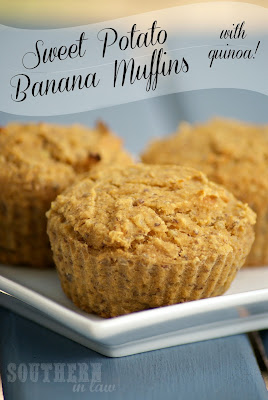 Quinoa Sweet Potato Banana Muffins - Healthy, Gluten Free, Low Fat, Vegan